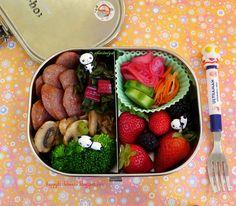 Sausage Mushroom Chard Bento by sherimiya ♥, via Flickr