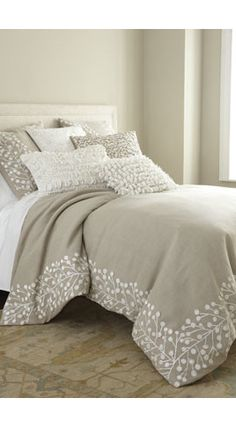 "Callisto Home ""Magnolia"" Bed Linens. I love design of this bedding. Bed Comforters, Bed Linens Luxury, Bedroom Decor, Bed, Home, Magnolia Bed, Bedroom Design, Home Bedroom, Home Decor"