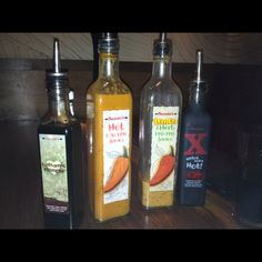Nando's - a selection of sauces. From hot to burn my mouth agony.