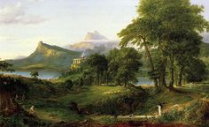 The Arcadian or Pastoral State, The Course of Empire series by Thomas Cole