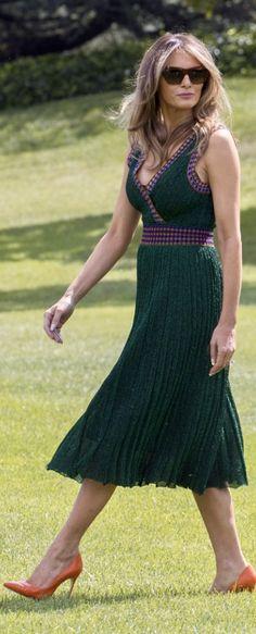 STYLE. FASHION. First Lady Melania Trump in Missoni