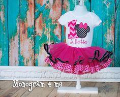 Minnie Maus Hot pink 1. Geburtstag Tutu Bodysuit, erster Geburtstag, Baby Body, Baby-Tutu-Rüsche von monogram4me auf Etsy https://www.etsy.com/de/listing/187926212/minnie-maus-hot-pink-1-geburtstag-tutu