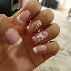 Spring Nail Art, Spring Nails, French Manicure Designs, Nail Art Designs, Matte Nails, Glitter Nails, Hair And Nails, My Nails, Hello Nails
