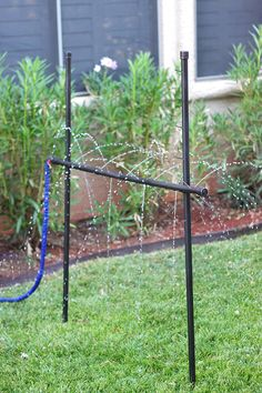 DIY Outdoor Games: Kids' Sprinkler Limbo Made from PVC Pipe - Home Improvement Blog – The Apron by The Home Depot