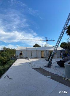 Construction Site Villa Son Vida Mallorca   studio a.s.h. Ash, Sidewalk, Villa, Construction, Studio, Design, Home, Interior Architecture, Walkway