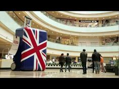 British Airways and VisitBritain surprise Moscow shoppers to a UK-themed flashmob inviting people to Britain. So fun!