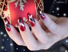 unas decoradas de navidad (1)