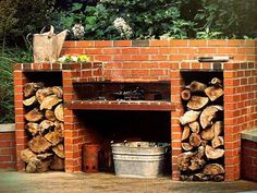 Building brick barbecue grill on the backyard is surprisingly easy to do. We've got you covered with these DIY backyard brick barbecue ideas you must know. Backyard Bbq Pit, Backyard Kitchen, Backyard Fences, Outdoor Kitchen Design, Kitchen Brick, Outdoor Kitchens, Bbq Kitchen, Kitchen Ideas, Kitchen Decor