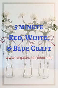 5 Minute Red, White, and Blue Craft - Not Quite Super Mom