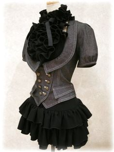 Drooooooool: something one of the Gals might wear? Even the Mrs. could wear this! -Black Dress & Jacket