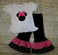 Pink and Black Minnie Mouse Outfit Minnie Mouse by KateandLulus