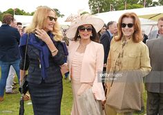 2015.06.14 Jerry Hall, Dame Joan, Stephanie Powers attends the Cartier Queen´s Cup Final at Guards Polo Club in Egham.