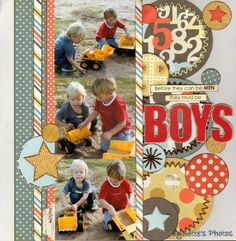 Before they can be men... *Scrap Africa* - Two Peas in a Bucket Scrapbook Sketches, Scrapbook Photos, Scrapbook Layout Sketches, Scrapbook Pages, Scrapbook Supplies, Scrapbooking Ideas, Scrapbook Paper Crafts, Digital Scrapbooking, 3 Picture
