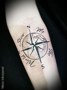 #inkorporel #miramas #mezz #tattoo #world #nord #sud #compas #boussole