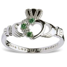 This Unique moissanite engagement ring makes an amazing gift for the woman in your life. It features a solid white gold band and diamonds encrusted petals with 2 carat forever brilliant moissanite center. This moissanite engagement ring is the perfect Celtic Wedding Rings, Celtic Rings, Claddagh Rings, Claddagh Engagement Ring, Irish Rings, Halo Engagement, Diamond Bands, Diamond Wedding Bands, Modern Jewelry