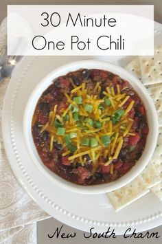 from new south charm 30 minute one pot chili 30 minute one pot chili ...