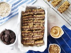 This Muslim Girl Bakes: Peanut Butter + Chocolate Stuffed Flapjacks.