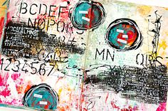 mixed media art journal page by Heather Greenwood - inspired by Donna Downey's Inspiration Wednesday 2015 - week 3