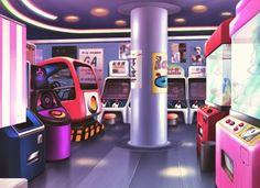 Amusement Park, Scenery, Background, Anime Background, Anime Scenery, Visual Novel Scenery, Visual Novel Background