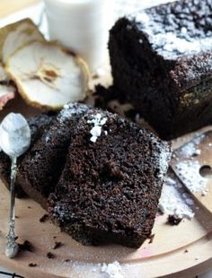 Chocolate Banana Bread, Chocolate Brownies, Chocolate Cakes, Baking Recipes, Cake Recipes, My Favorite Food, Favorite Recipes, Eat Happy, Christmas Party Food