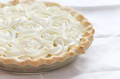 Fresh coconut cream pie.. Looks beautiful!!