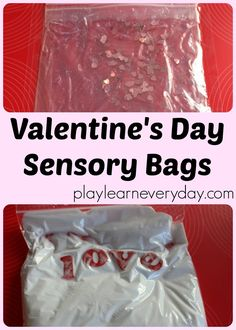 A fun way to have some squishy sensory play for toddlers and young kids for Valentine's Day with no mess!