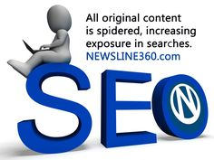 Worried about your SEO? No problem. #NEWSLINE360™ has you covered. Search engines love original content. Post yours in your #newsroom and watch your stats rise. #brandjournalism #onlinenewsroom #contentmarketing #publicrelations -