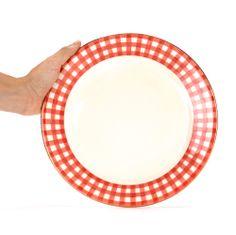 Dinner Plate Vichy Red - En Soie