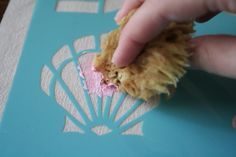 Miss Make: Tutorial: Martha Stewart Paint DIY Fabric Printing Stencil Fabric, Stencil Painting, Fabric Painting, Paint Fabric, Fabric Crafts, Sewing Crafts, Diy Crafts, Martha Stewart Paint, Decoupage
