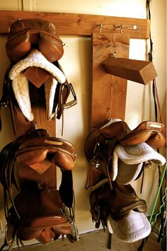 Tack room-great simple saddle racks
