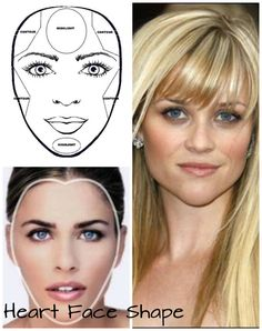 For heart face shapes, distinct features are having wide forehead and cheekbones but tends to be narrow at the jawline.  For contouring, contour your cheeks and also the temples. For highlight the forehead and chin.