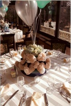 teddy bear centerpieces - Google Search
