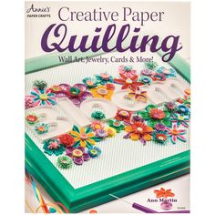 Creative Paper Quilling is a compilation of 28 expertly crafted quilling projects that will appeal to both the beginner and the experienced quilling artists. Join Ann Martin and other accomplished quilling artists for a true creative adventure as th. Arte Quilling, Paper Quilling Jewelry, Quilled Paper Art, Quilling Paper Craft, Paper Jewelry, Paper Quilling For Beginners, Paper Quilling Tutorial, Paper Quilling Designs, Quilling Techniques