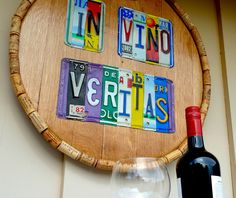 IN VINO VERITAS In Wine There Is Truth  custom by License2Spell, $275.00