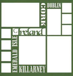 Ireland 12 x 12 Overlay Laser Die Cut