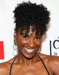 Vicky Jeudy short hairstyle for natural hair