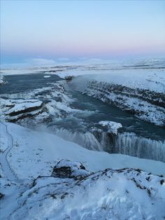 """See 2083 photos and 143 tips from 12430 visitors to Gullfoss. """"A great spot to witness the pure power of this magnificent waterfall. Iceland, Waterfall, Mountains, Winter, Travel, Life, Ice Land, Winter Time, Viajes"""