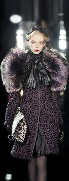 Dolce & Gabbana fur coat Animalistic Style #UNIQUE_WOMENS_FASHION