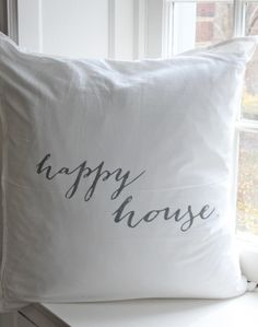 Happy House Pillow - gift ideas - charitable gifts - Willow & Shea