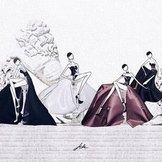 Susu girls in Atelier Versace haute couture FW14 by JSK http://store.jaesukkim.net