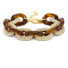 BaubleBar Pave Resin Links-Tortoise Shell ($48) ❤ liked on Polyvore featuring jewelry, bracelets, tortoise shell bracelet, pave jewelry, tortoise bracelet, bracelet bangle and tortoise bangle