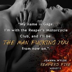 """►►►#NewRelease ☠ #BadassBikerAlert ☠ It's #LIVE!◄◄◄ Reaper's Fire (Reapers MC, #6) by Joanna Wylde  New York Times bestselling author Joanna Wylde returns to the """"wild and raw""""* world of the Reapers MC with the story of Gage and Tinker…  ►►►BUY LINKS◄◄◄ ►Amazon: http://geni.us/NwlS ►iTunes: http://geni.us/QQLSjv ►B&N: http://geni.us/EUAAW ►Kobo: http://geni.us/v7wJC ►Google Play: http://geni.us/8ACGp  ►►► BLURB◄◄◄ The club comes first. I've lived by those words my whole life—as"""