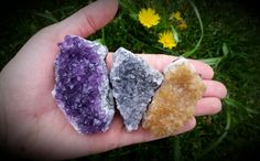 Amethyst & Citrine Cluster Mix ~Healing Crystals