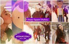 Love the Dance! ... Maroon 5 - Sugar #WeDanceDay @ Union Square Station (4 Feb 2015)