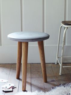 Concrete Topped Stool - Stools,Chairs & Benches - Furniture