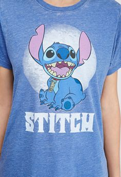 Stitch Mineral Wash Tee | FOREVER21 - 2000097539