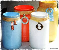 NorthShore Days.....: More Painted Jars... An Obsession
