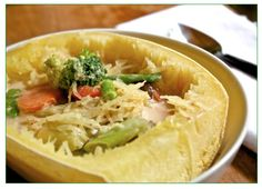 Helyn's Healthy Kitchen: Spaghetti Squash Asian Noodle Bowl