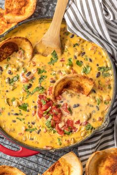 Loaded cowboy queso