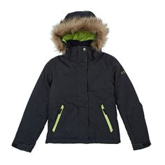 Roxy Jet Ski Girl Emboss Snow Jacket - Anthracite | Free UK Delivery